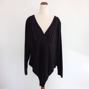 City Chic Plus Size Large Black Bodysuit